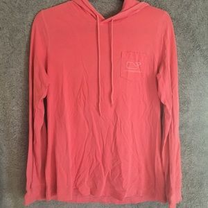 Pink Vineyard Vines Hooded Longsleeve